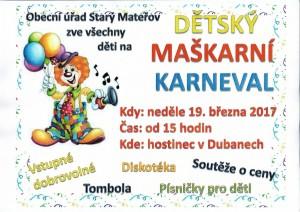 dětský karneval 2017